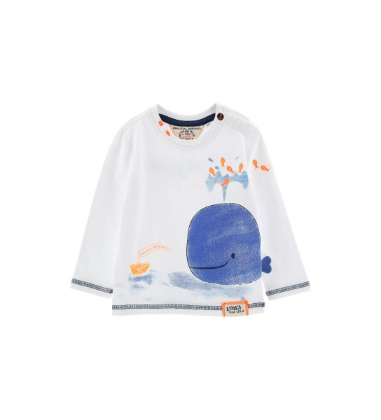 LONG SLEEVE T-SHIRT WITH CONTRASTING SEAMS