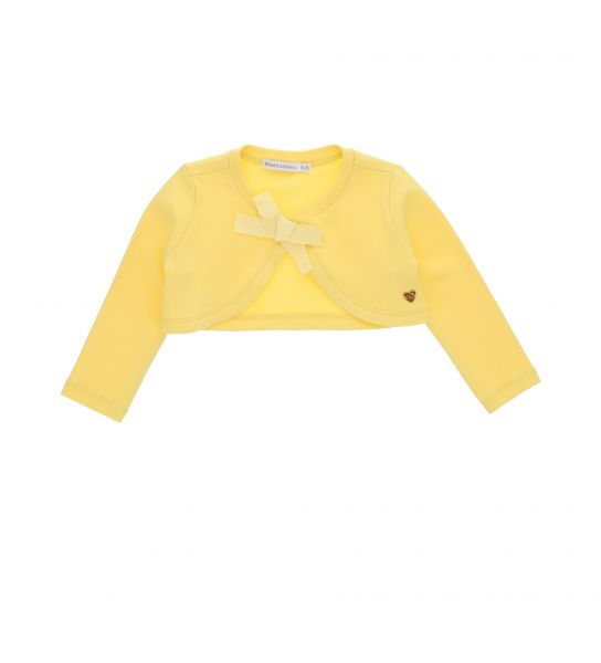 SHRUG IN COTTON LONG SLEEVE WITH BOW