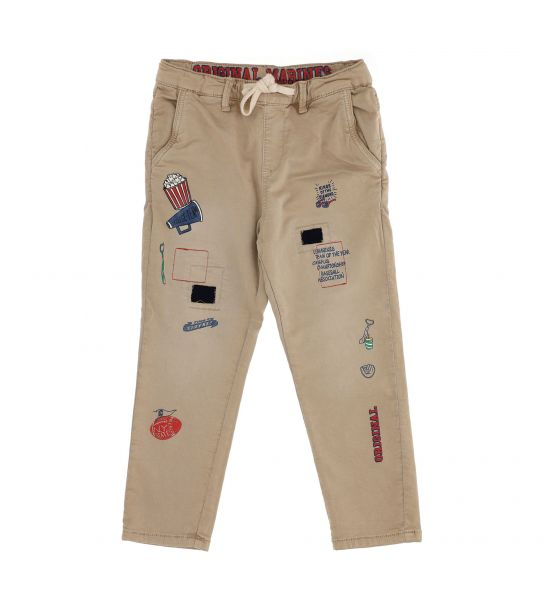 JOGGER TROUSERS WITH COTTON SWEATSHIRT AND SIDE POCKETS