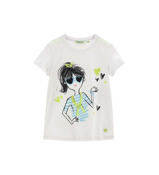 T-SHIRT MANICA CORTA TULLE SULLE SPALLE